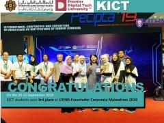 KICT students won 3rd place at UTHM-Fraunhofer Corporate Makeathon 2019