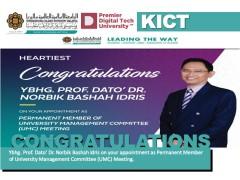 Congratulations Ybhg. Prof. Dato' Dr. Norbik Bashah Idris