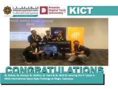 Congratulations to 5 KICT Students for winning the 3rd Place in NASA Space Apps Challenge