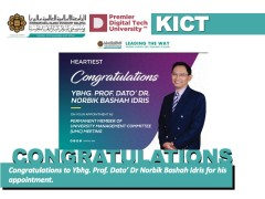 Congratulations to Ybhg. Prof. Dr Norbik Bashah Idris for his appointment.