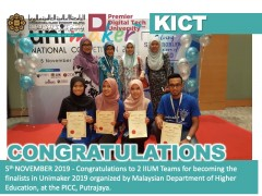Congratulations to 2 IIUM Teams for becoming the finalists in Unimaker 2019