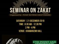 Zakat Seminar by Pusat Kutipan Zakat Pahang