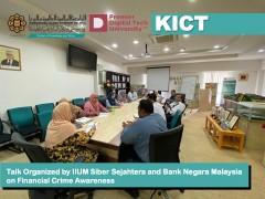 Talk Organized by IIUM Siber Sejahtera and Bank Negara Malaysia on Financial Crime Awareness