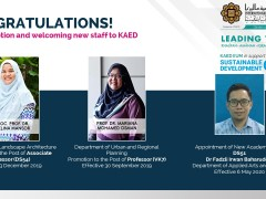 CONGRATULATIONS! For Promotion and welcoming new staff to KAED