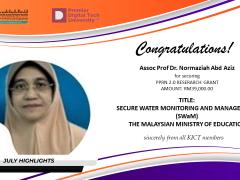 Congratulations to  Assoc. Prof. Dr. Normaziah Bt. Abd Aziz