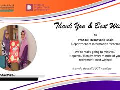 Thank You Prof, Dr, Husnayati Hussin