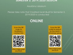 Usrah Budi Facilitators' Contact Info and WhatsApp Group, Semester 3, 2019/2020 Session