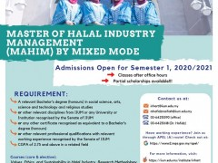 MASTER OF HALAL INDUSTRY MANAGEMENT (MAHIM) PROGRAMME BY MIXED MODE