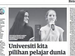 Universiti kita pilihan pelajar dunia
