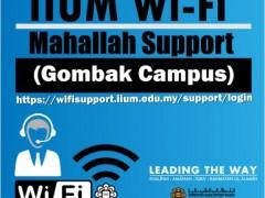 IIUM WIFI MAHALLAH SUPPORT (GOMBAK CAMPUS)