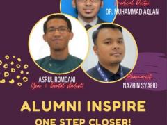 """ALUMNI INSPIRE : ONE STEP CLOSER"" (MOTIVATIONAL TALK)"