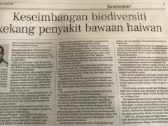 Keseimbangan Biodiversiti Kekang Penyakit Bawaan Haiwan