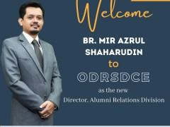 WELCOMES BR. MIR AZRUL SHAHARUDIN, DIRECTOR OF ALUMNI RELATIONS DIVISION