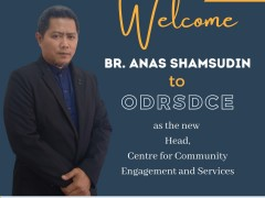 WELCOMES BR. ANAS SHAMSUDIN, HEAD OF CENTRE FOR COMMUNITY ENGAGEMENT AND SERVICES