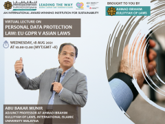 ALIGNING PERSONAL DATA PROTECTION LAW IS ESSENTIAL TO ENSURE THAT TECHNOLOGY IS SERVING THE SOCIETY FOR ITS SPIRITUAL, SOCIAL AND ECONOMIC GROWTH