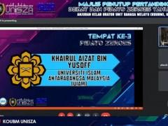 CONGRATULATION FOR IIUM SPEECH, BR. KHAIRUL AIZAT FOR WINNING 3RD PLACE ON PIDATO ZEROES