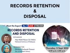 RECORDS RETENTION &  DISPOSAL