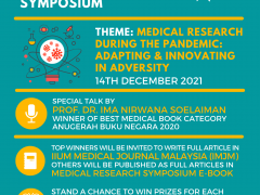 Second Announcement Virtual Medical Research Symposium 2021
