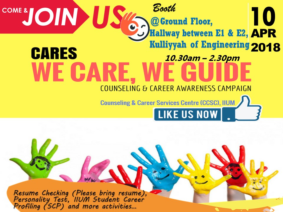 COUNSELING AND CAREER AWARENESS CAMPAIGN 3/2018