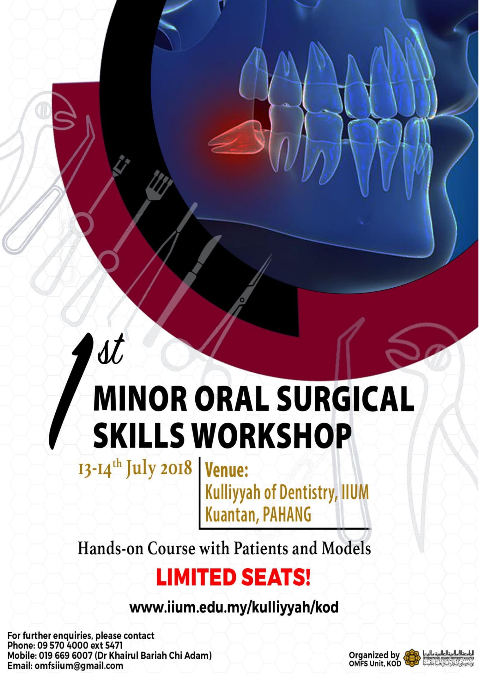 1st Minor Oral Surgical Skills Workshop
