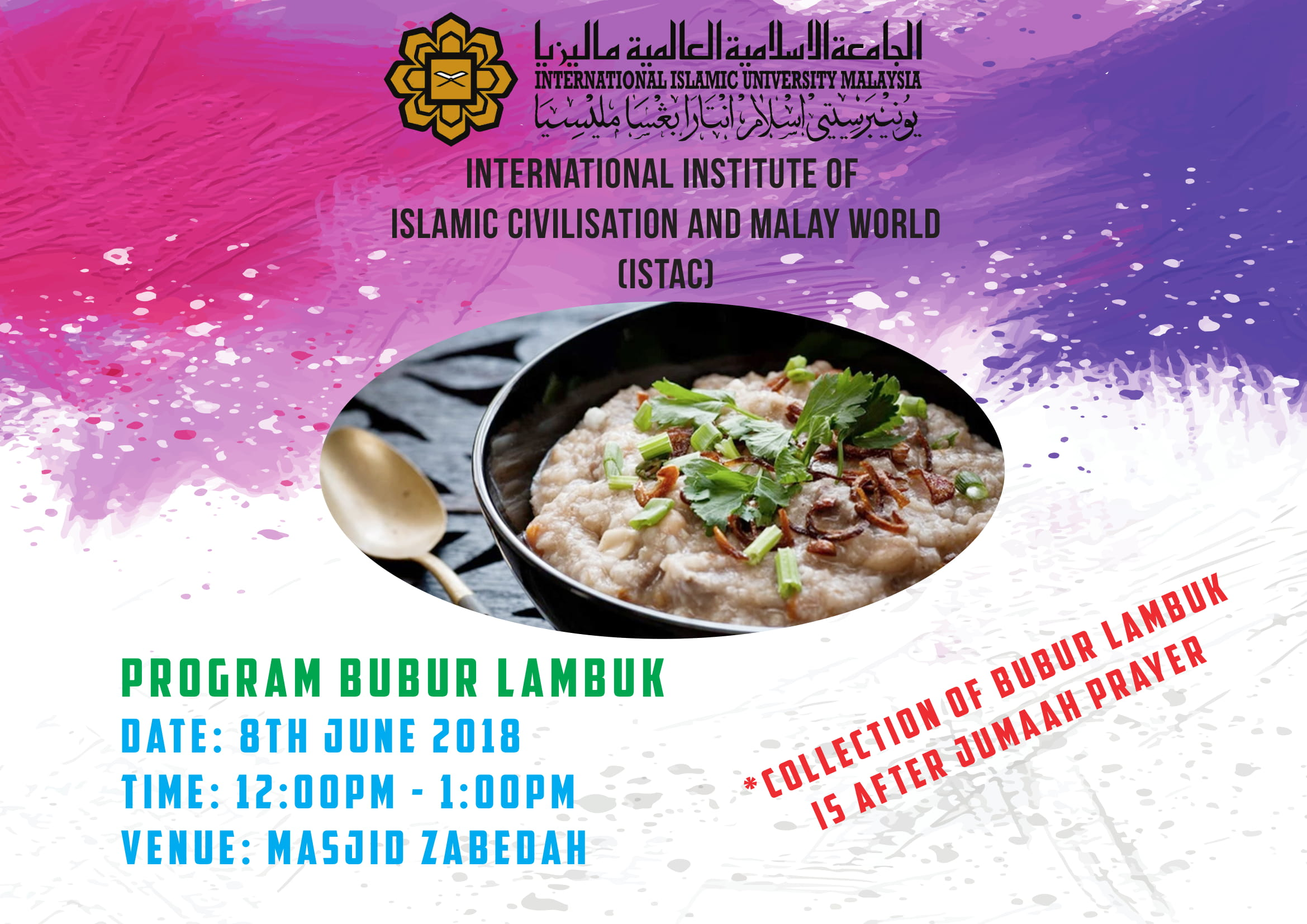 PROGRAM BUBUR LAMBUK