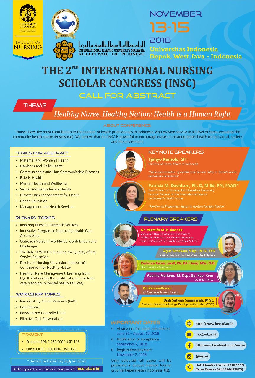 The 2nd International Nursing Scholar Congress (INSC)