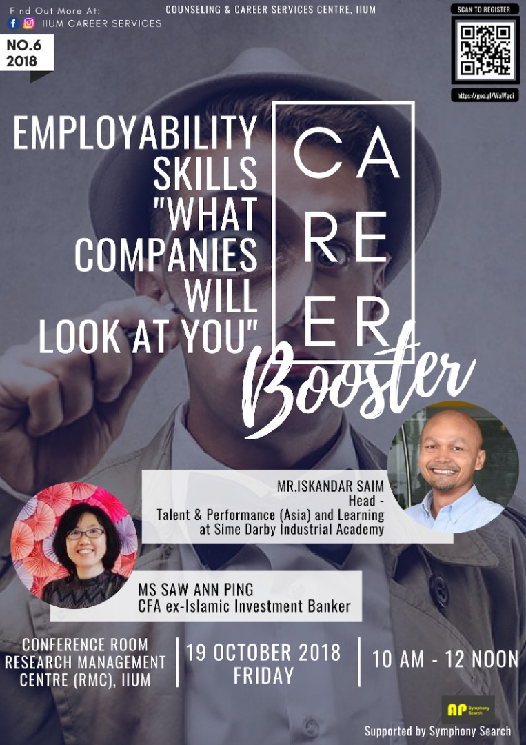 """Career Booster : Employability Skills """"What Companies Will Look at You"""""""