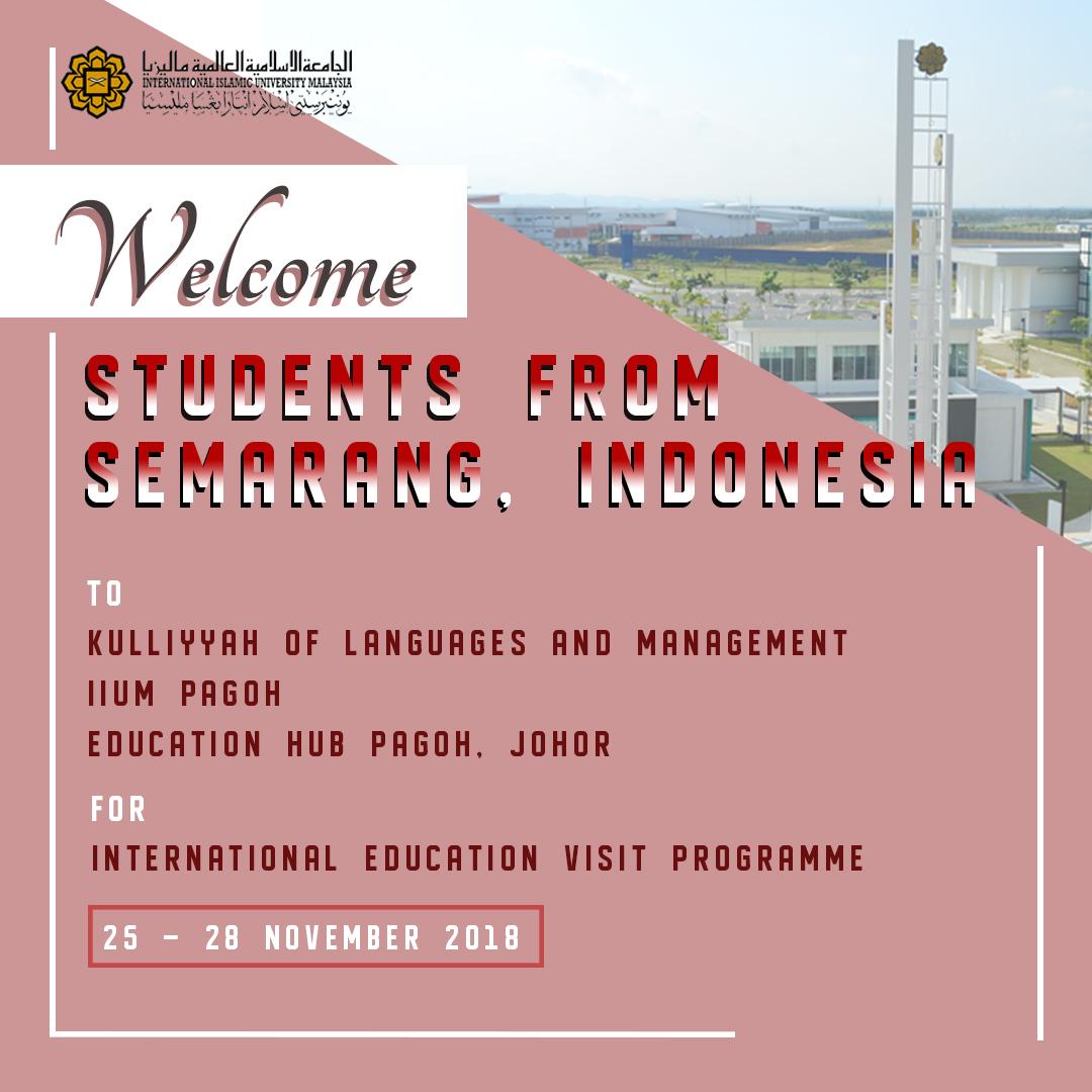 Internarional Education Visit Program from Indonesia