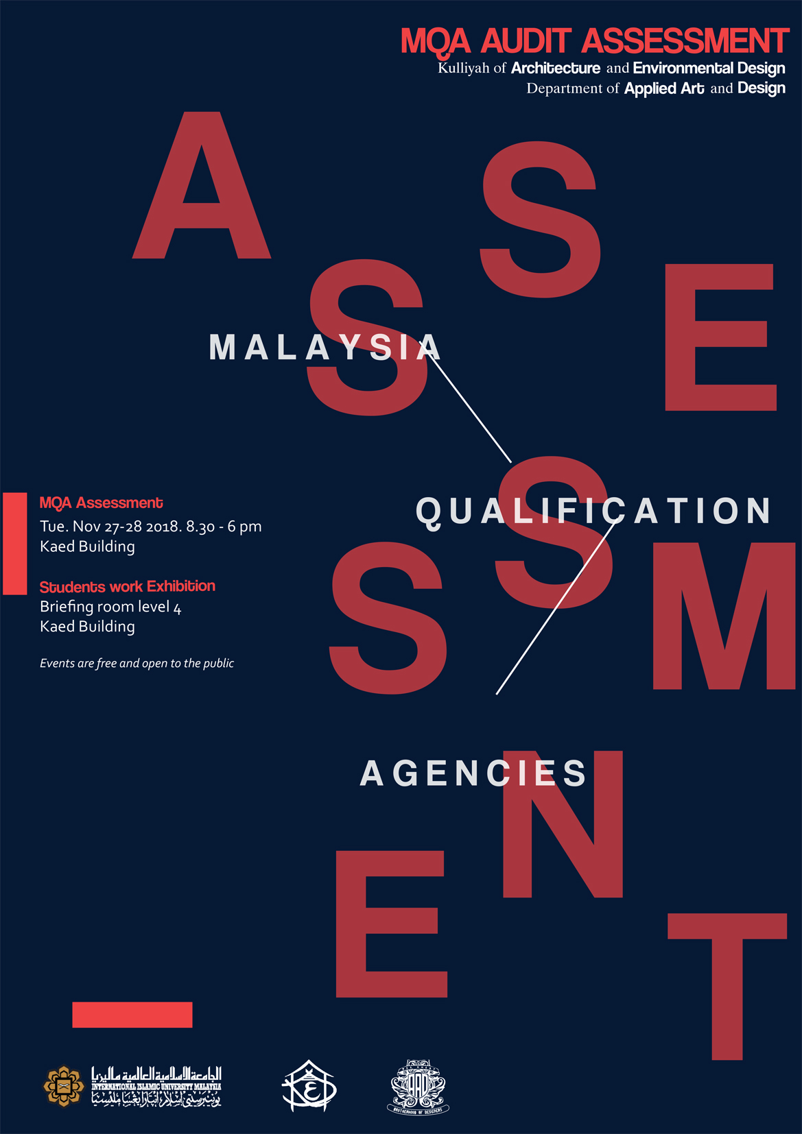 MQA Audit Assessment 2018 for Department of Applied Arts and Design