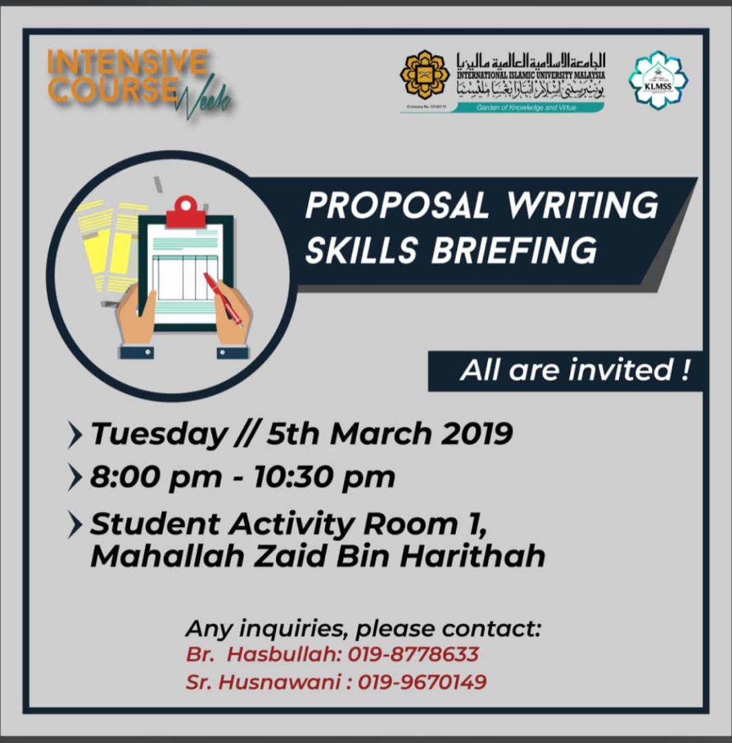 Proposal Writing Skills Briefing