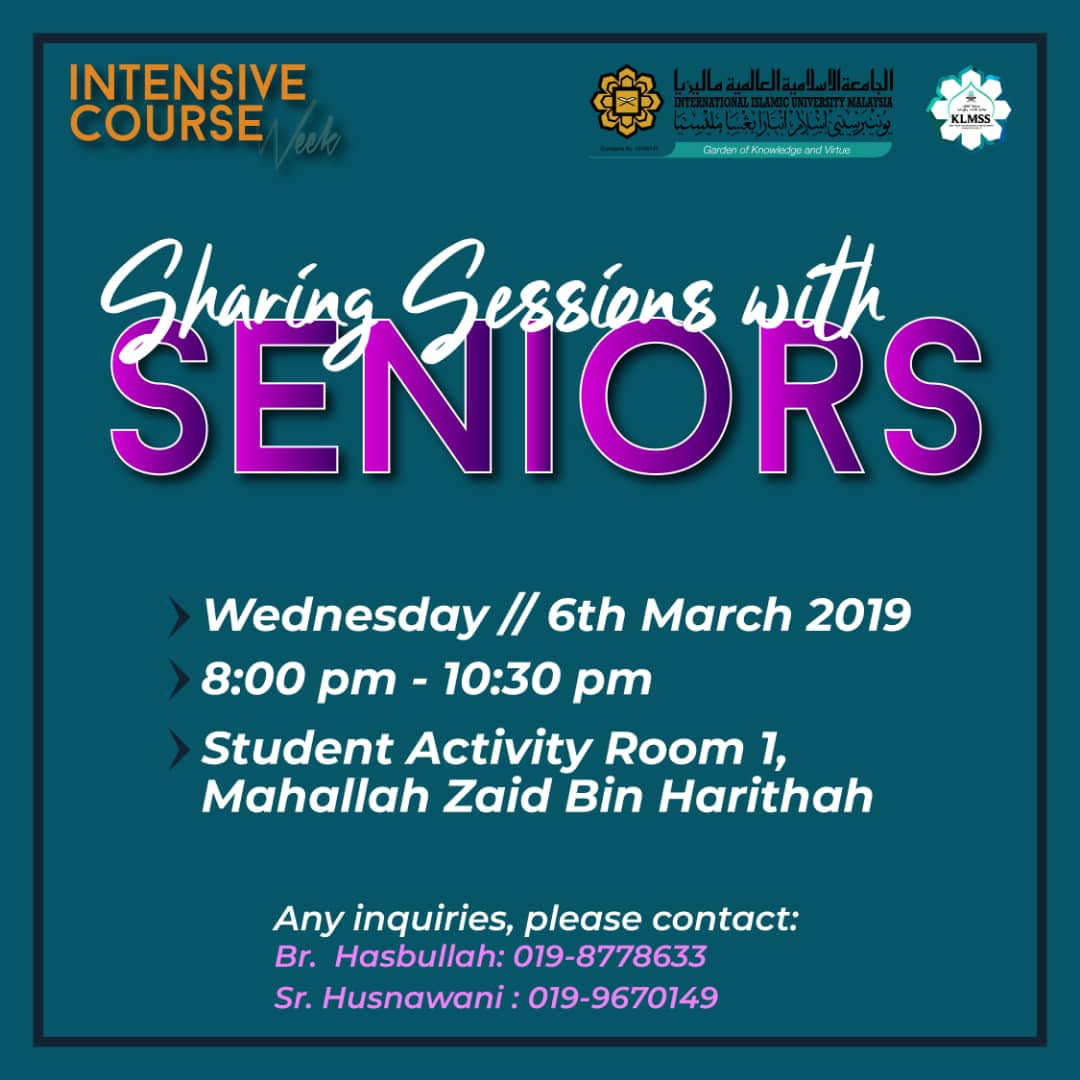 Sharing sessions with seniors