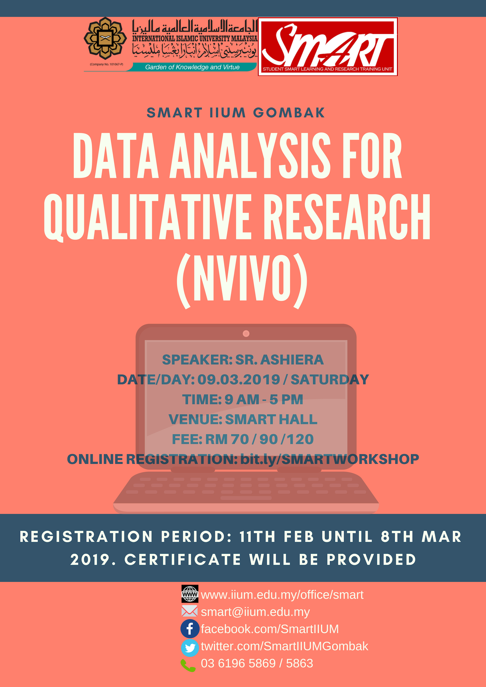 WORKSHOP : DATA ANALYSIS FOR QUALITATIVE RESEARCH (NVIVO)