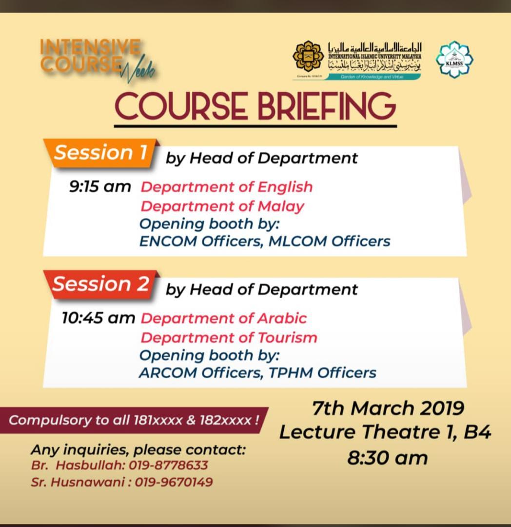 Course Briefing