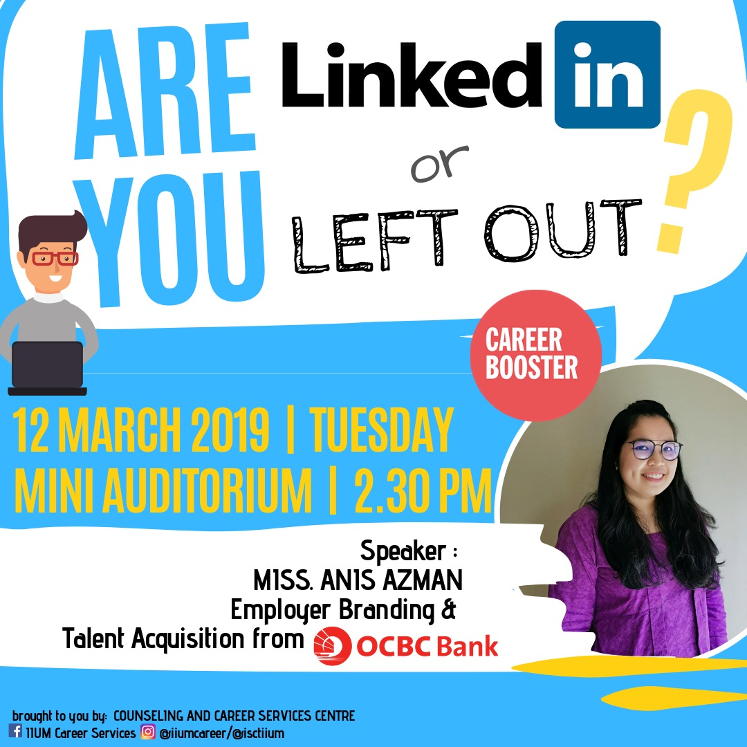 CAREER BOOSTER : ARE YOU LINKED IN OR LEFT OUT?