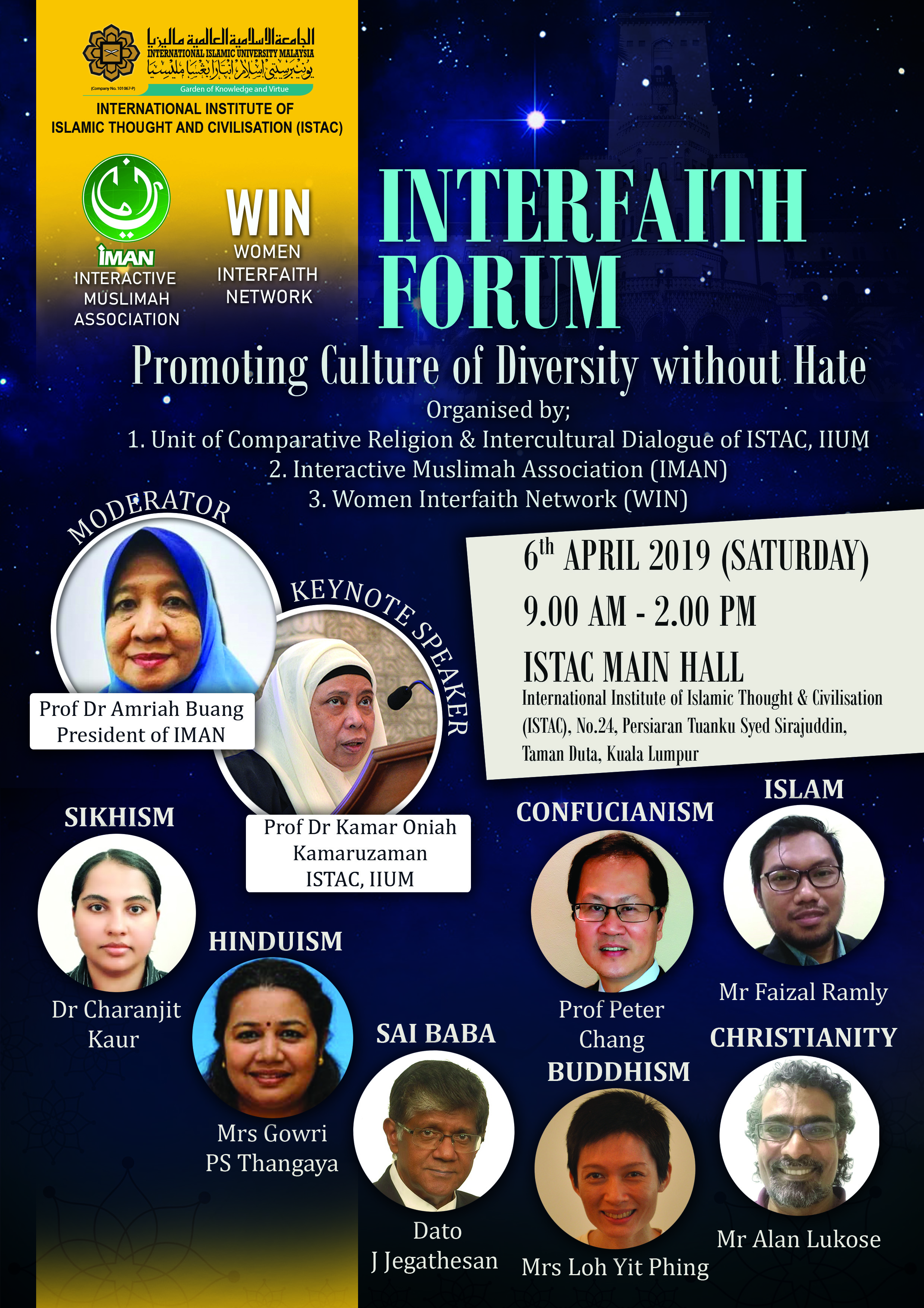 INTERFAITH FORUM : Promoting Culture of Diversity Without Hate