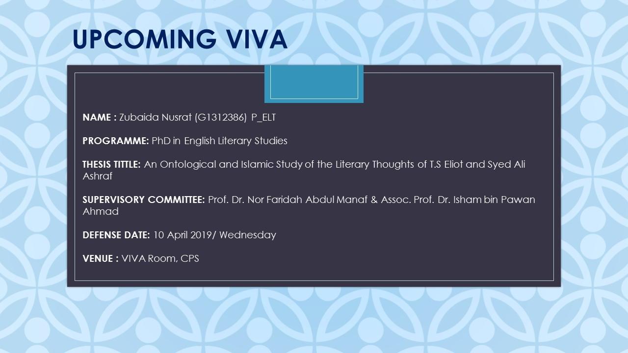 VIVA - Zubaida Nusrat (G1312386) P_ELT
