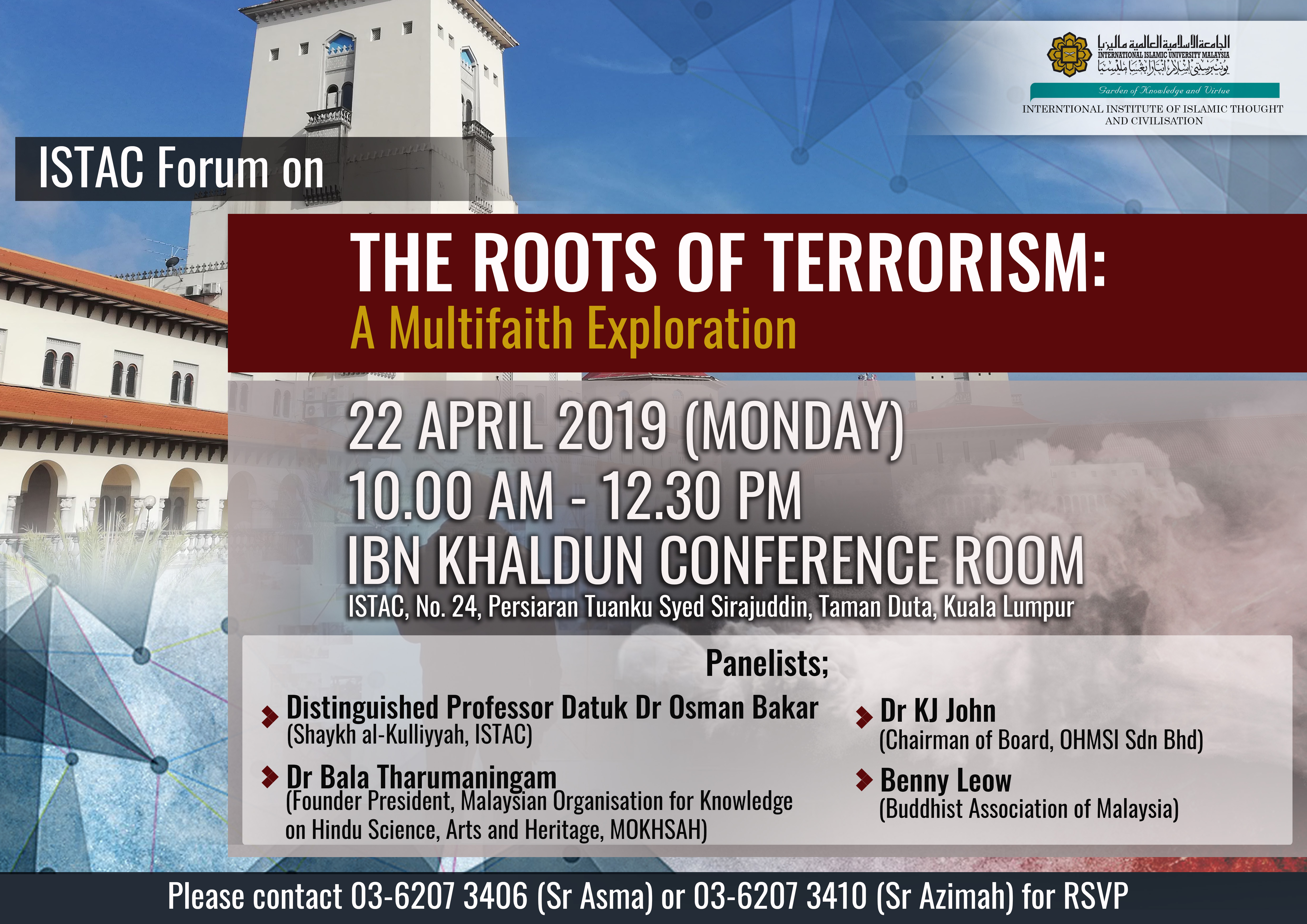 ISTAC FORUM ON THE ROOTS OF TERRORISM: A Multifaith Exploration