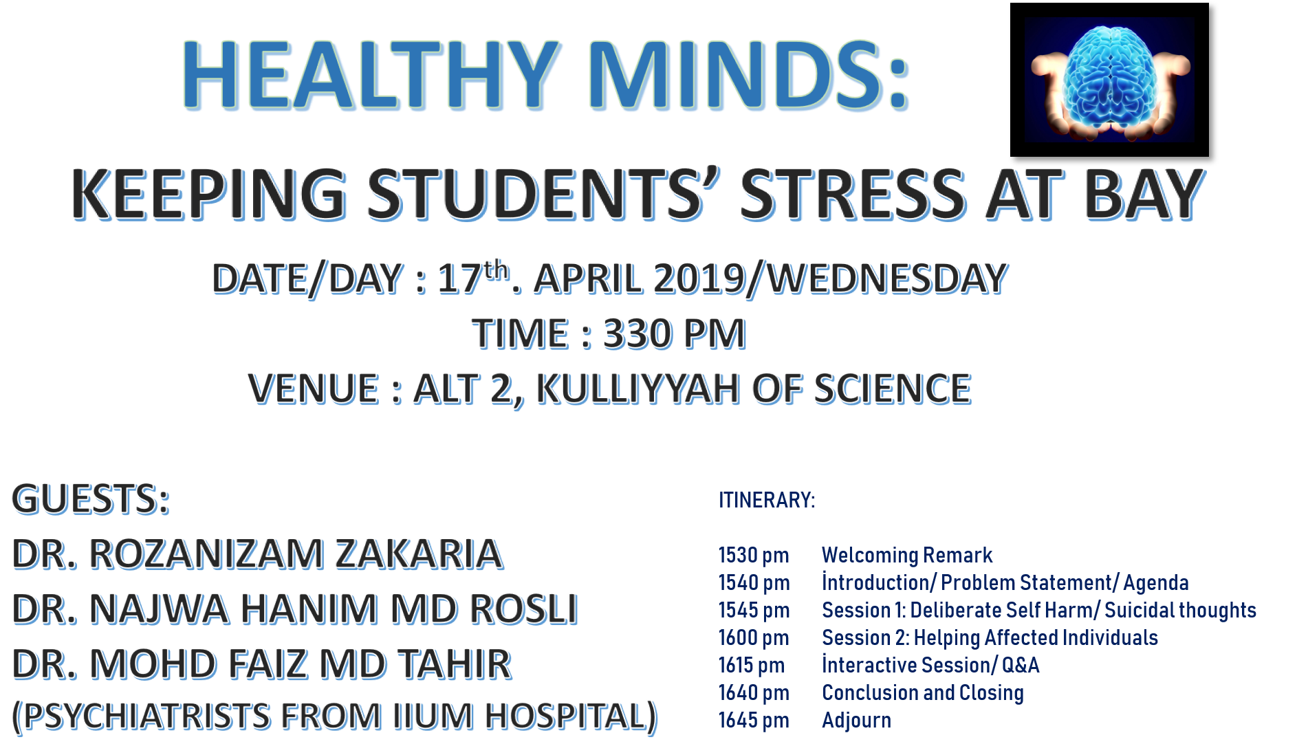 HEALTHY MINDS: KEEPING STUDENTS STRESS AT BAY