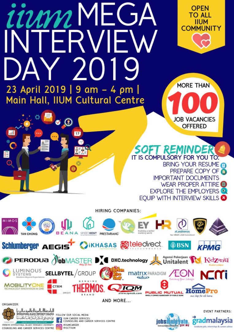 IIUM Mega Interview Day 2019