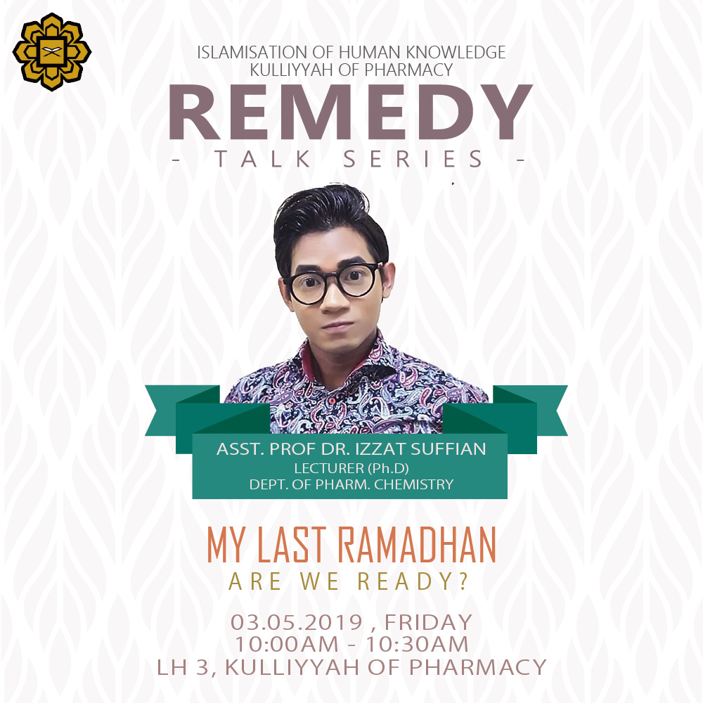 REMEDY Talk Series - My Lat Ramadhan, Are We Ready?