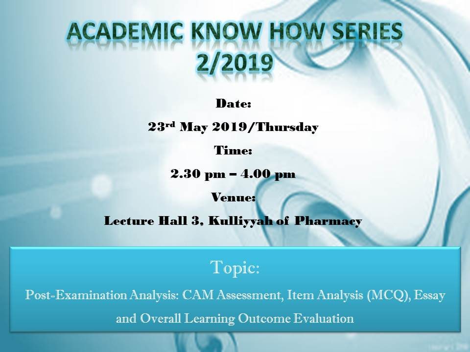 Academic Know-How Series - 2/2019