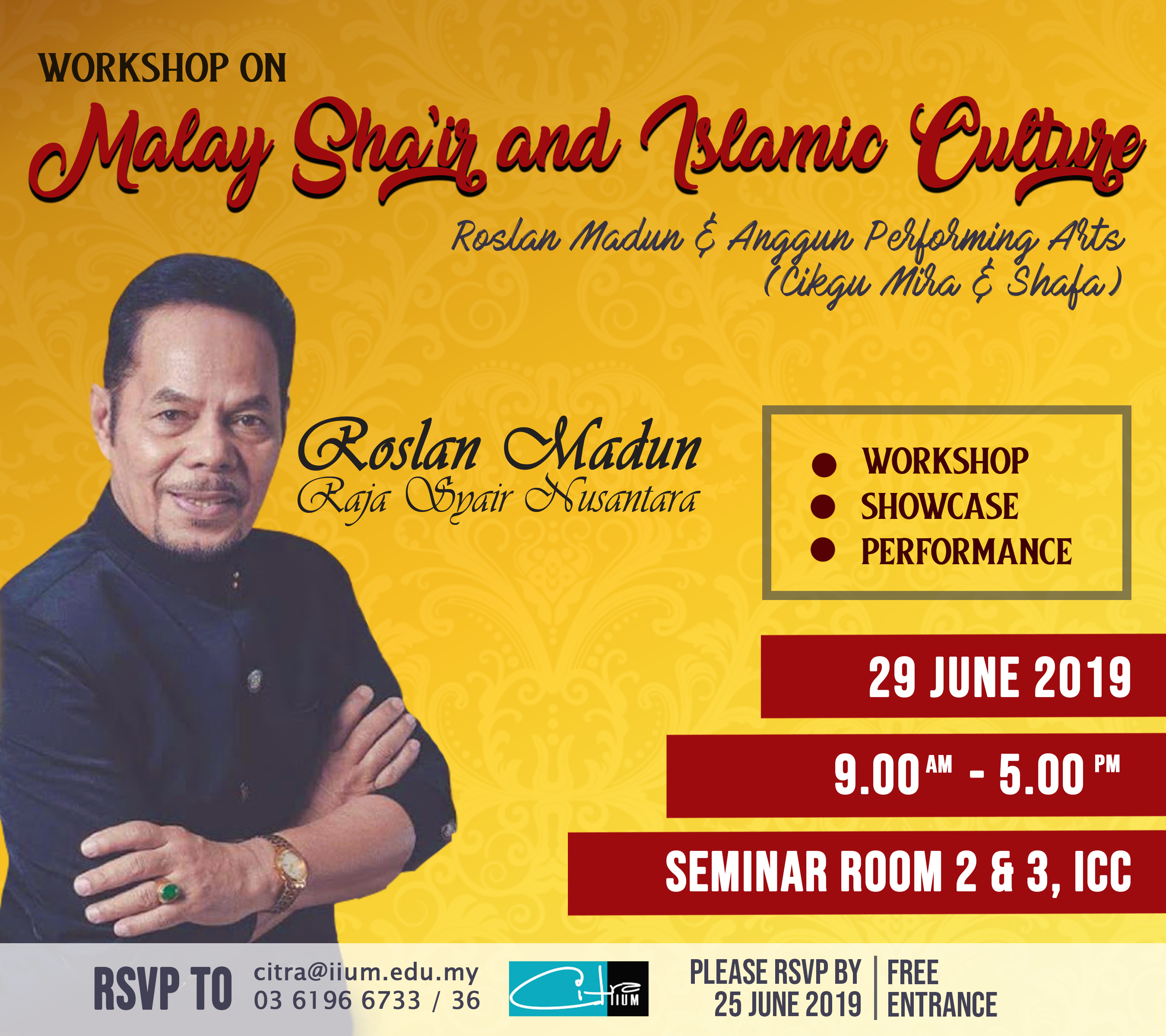 Workshop on Malay Sha'ir & Islamic Culture with Roslan Madun