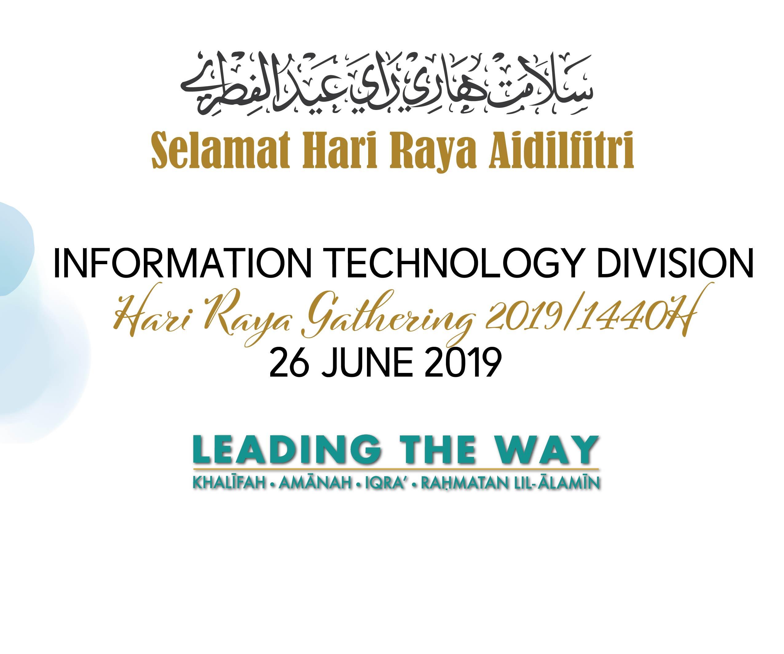 ITD HARI RAYA GATHERING 2019/1440H
