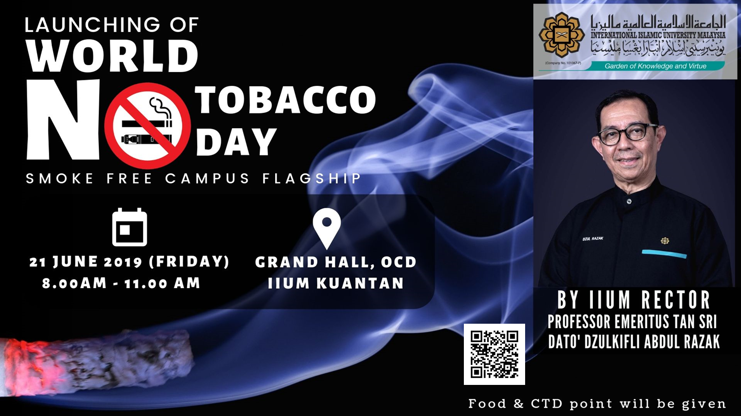 Launching of World No Tobacco Day : Smoke Free Campus Flagship