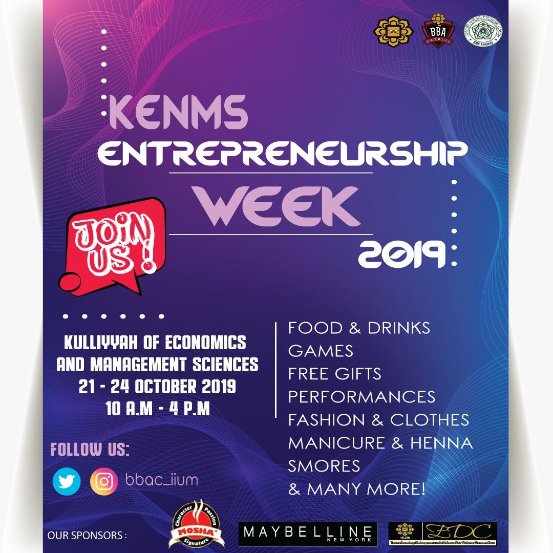 KENMS Entrepreneurship Week 2019