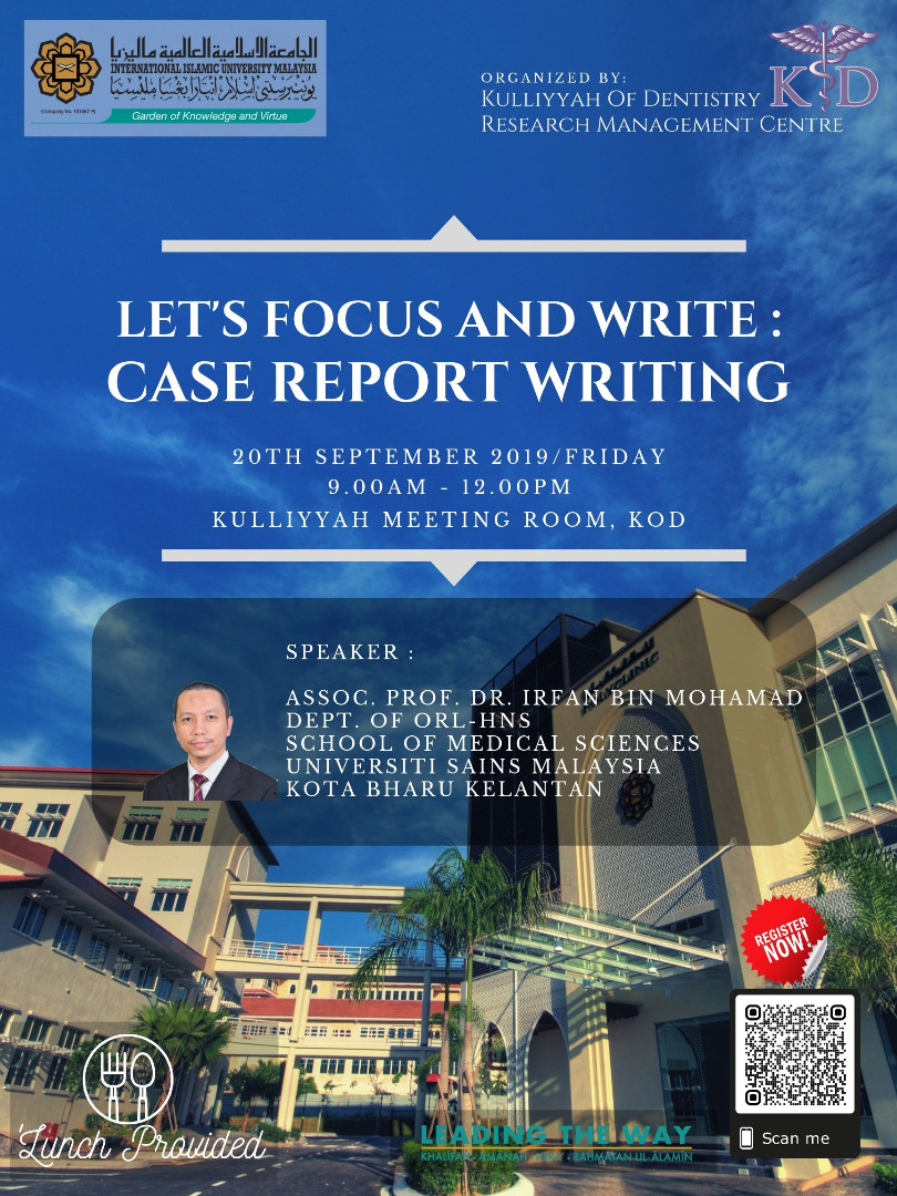 Let's Focus and Write: Case Report Writing