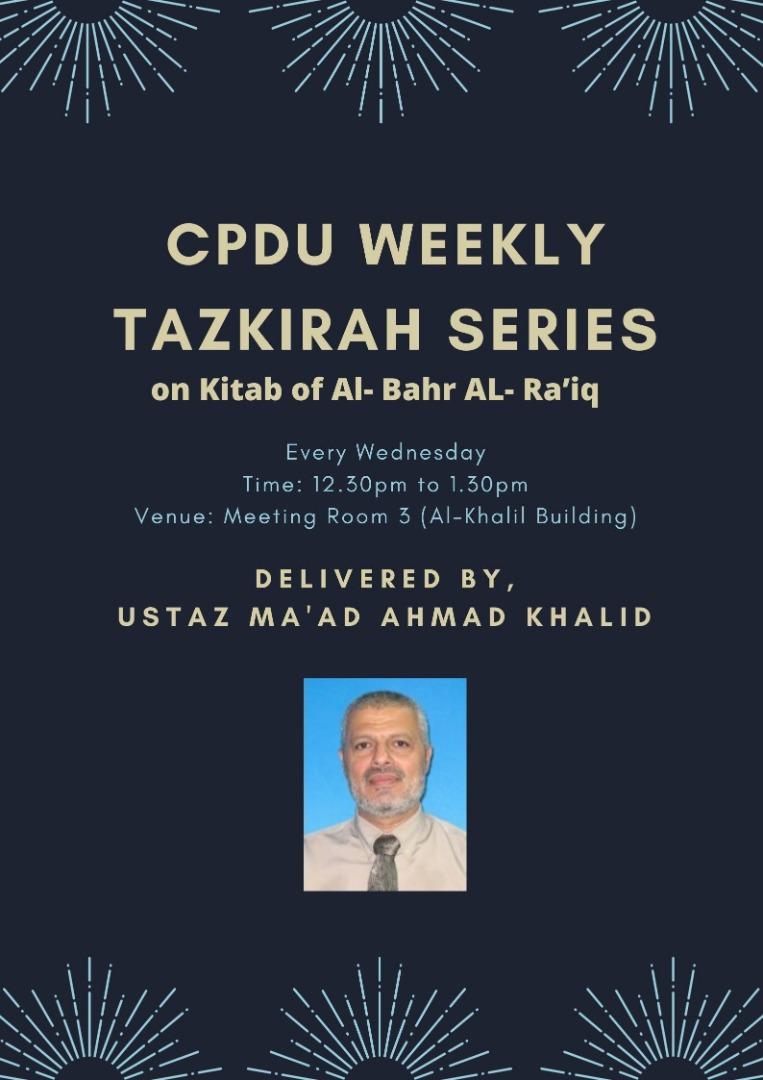 Weekly Tazkirah
