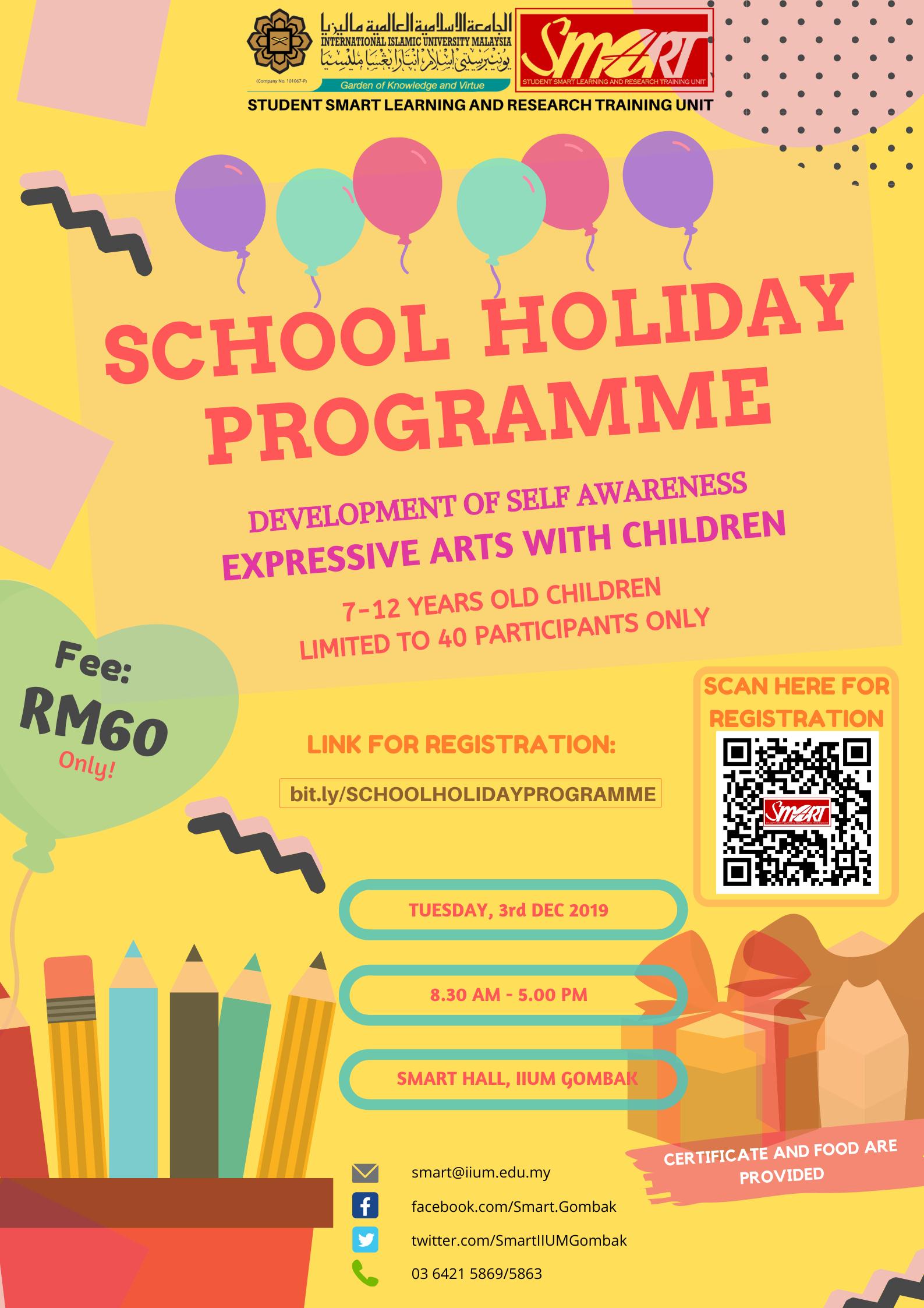 SCHOOL HOLIDAY PROGRAMME 2019