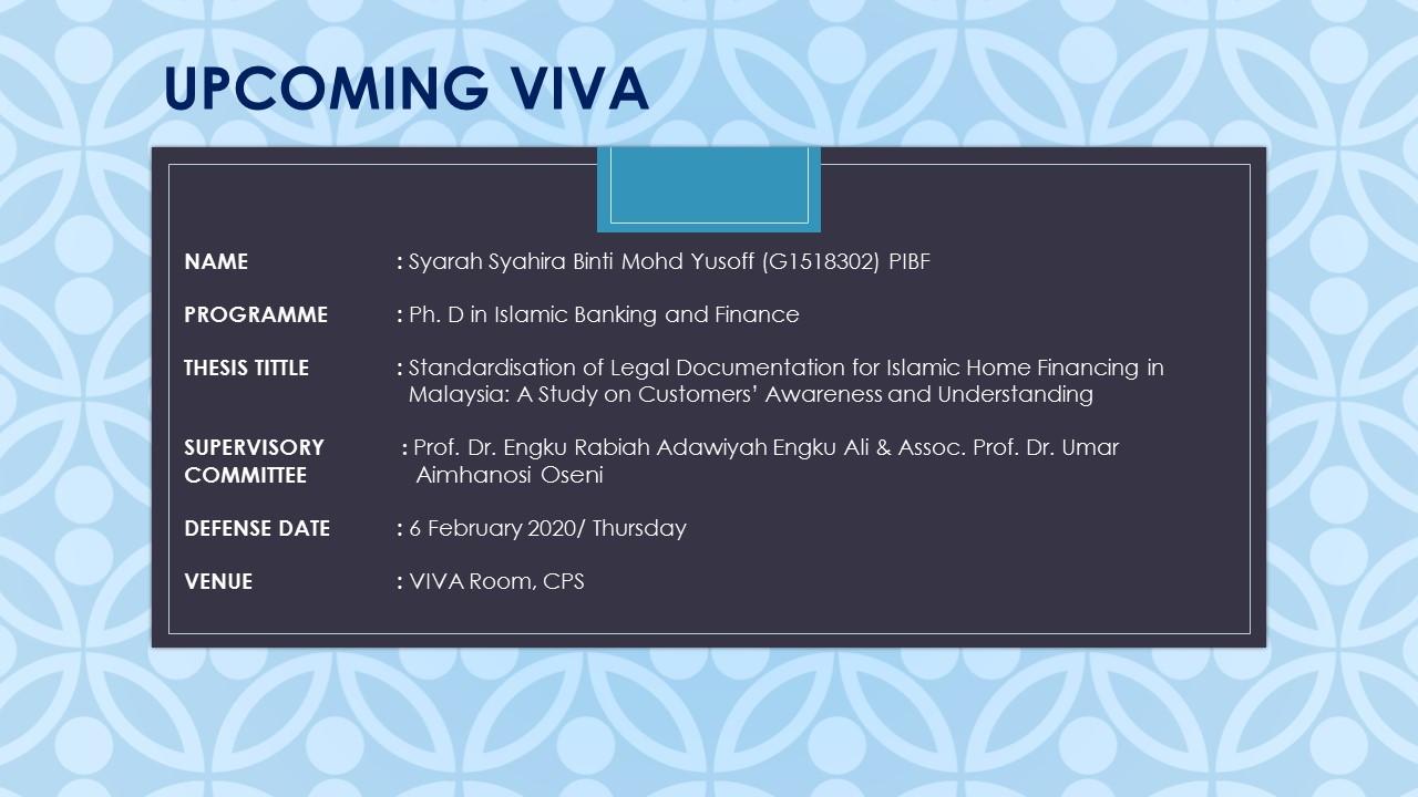 Syarah Syahira Binti Mohd Yusoff (G1518302) PIBF