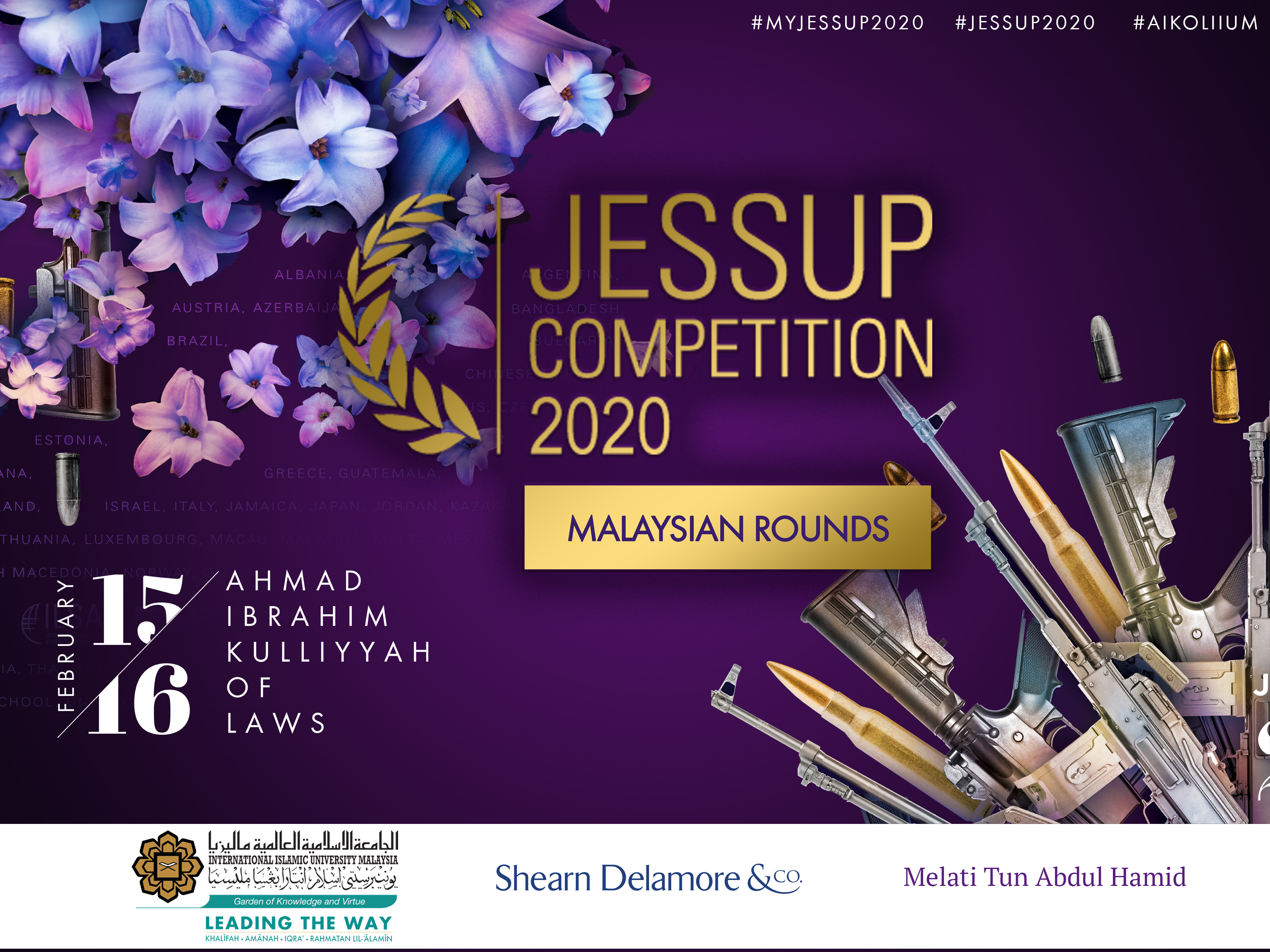 THE PHILIP C. JESSUP INTERNATIONAL LAW MOOT COURT COMPETITION 2020 (MALAYSIAN NATIONAL ROUNDS)